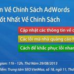 Tọa đàm trực tuyến về chính sách của Google Adwords