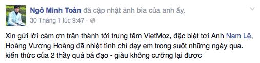 Ý kiến học viên Ngô Minh Toàn