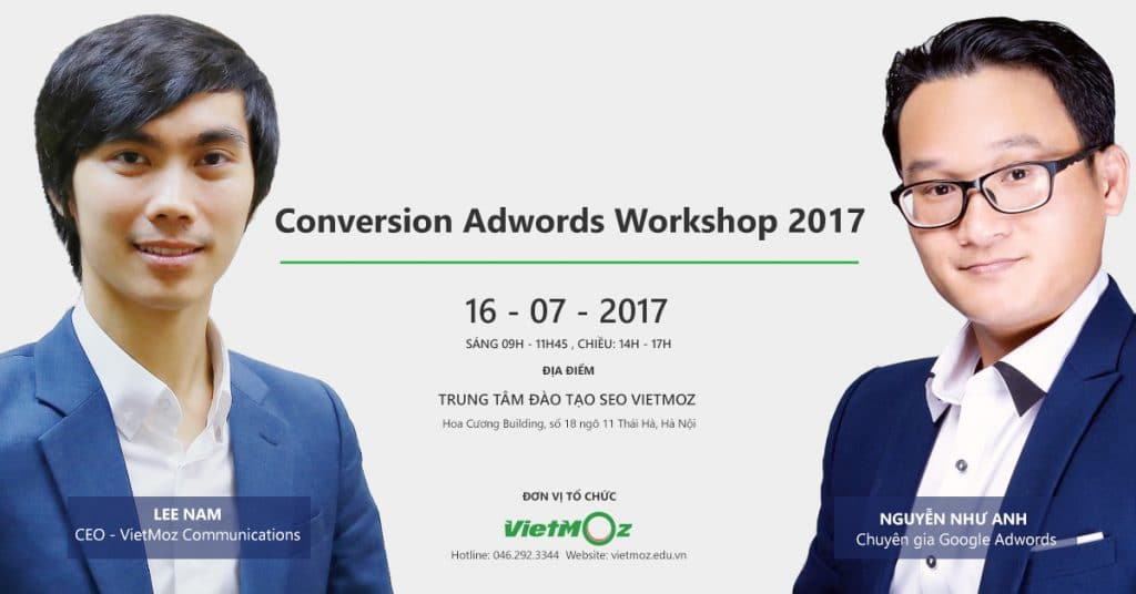 Conversion Adwords Workshop 2017