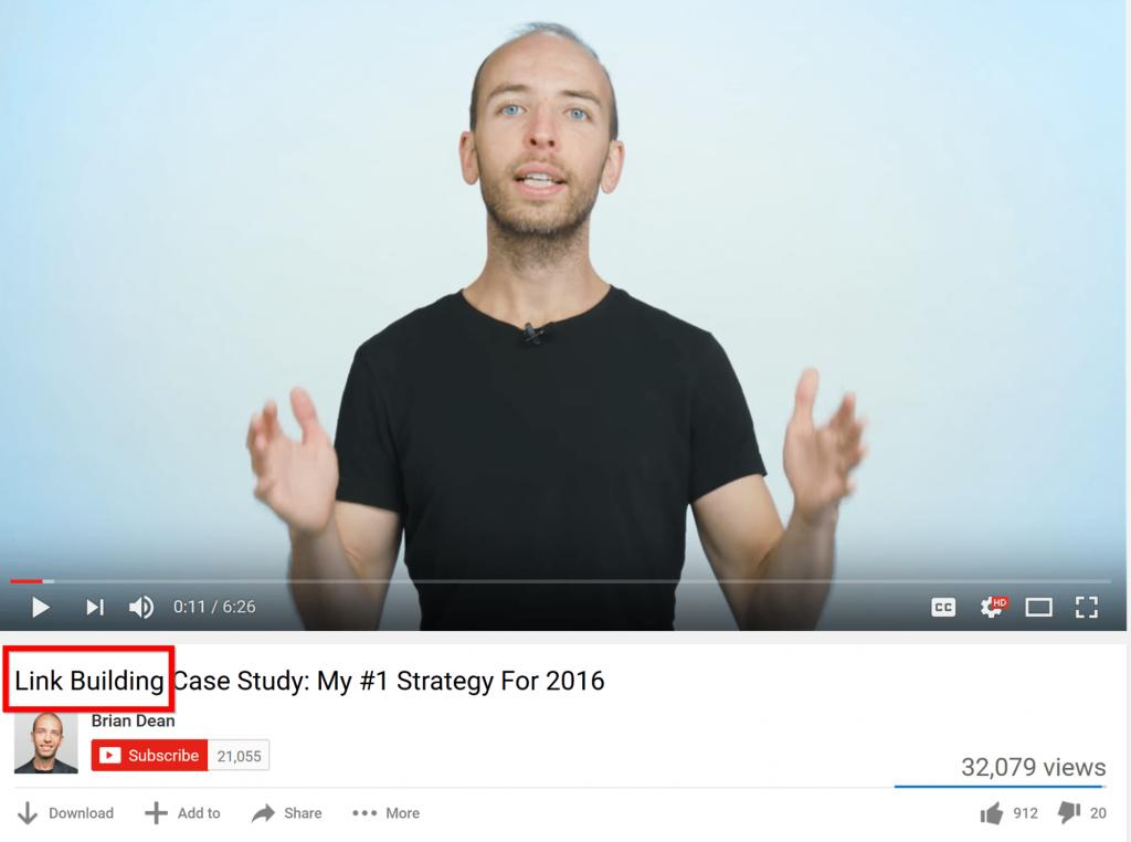 Tập trung tối ưu từ khóa cho tiêu đề video của bạn