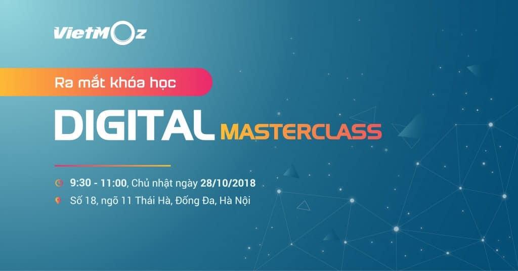 Sự kiện ra mắt khóa Digital-Masterclass