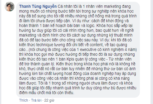 Ý kiến học viên Nguyễn Thanh Tùng