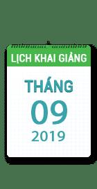 Lịch khai giảng khóa học tháng 09 - 2019 tại Hà Nội