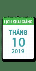 Lịch khai giảng khóa học tháng 10 - 2019 tại Hà Nội