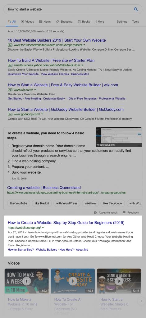 bảng kết quả tìm kiếm
